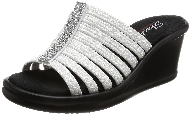 Skechers US|White Rumblers-Hotshot, Sandales Femme 9.5 B(M) US|White Skechers b36454