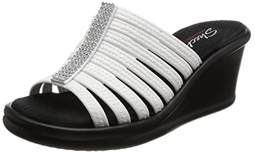 Skechers Rumblers Hot Shot, Ciabatta Donna con Zeppa in ...
