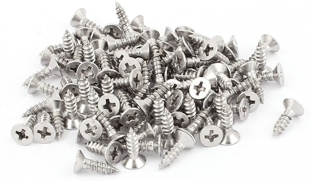 sourcingmap/® 3,5mm x 13mm Senkkopf Kreuz Kopf selbstschneidenden Schraube 100PCS de