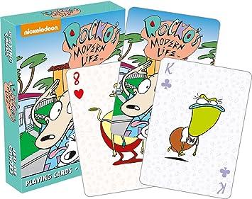 Rockos Modern Life 52496 - Juego de Cartas de póquer: Amazon.es ...