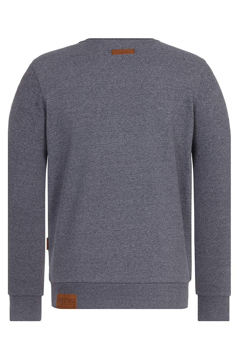 Naketano Male Sweatshirt Transen Tanzen Indigo Blue Melange