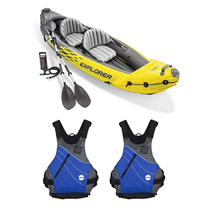 Amazon.com : Intex Explorer K2 Yellow 2 Person Inflatable ...