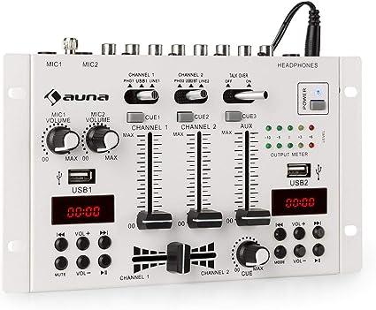auna DJ-22BT MKII Mixer, Mezclador de DJ de 3/2 Canales, Bluetooth ...