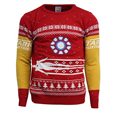 official marvel iron man christmas jumperugly sweater uk lus m