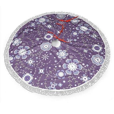 sexy world Falda de árbol de Navidad de 30 Pulgadas, Floral (3 ...