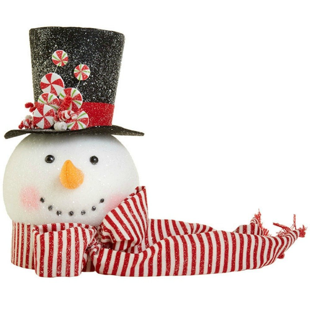RAZ Imports Hot Chocolate Holiday Snowman Tree Topper 14''