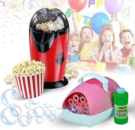 Pack especial para cumpleaños infantil, máquina de burbujas ...