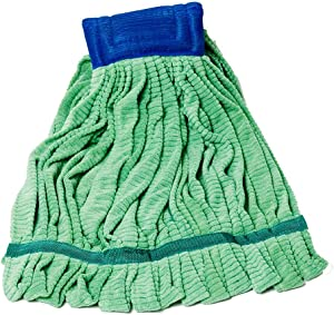 Arkwright Microfiber Tube Mop Head (14 Oz, 1 Pack), Highly Absorbent, Quick Drying, Ideal for Home, Commercial, and Industrial Use (Green)