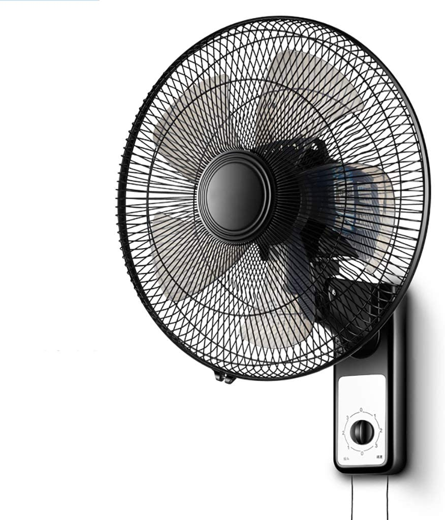 Size : Remote Wall Mount Fan OIndustrial Shaking Head Hanging Large Fan with Remote Control and timers Pro Series Heavy Duty Metal Wall Mount Fan for Industrial