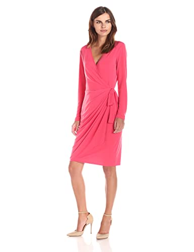 Lark & Ro Women's Long-Sleeve Wrap Dress