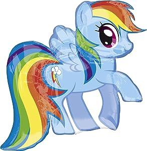"Anagram International 2646701 My Little Pony Rainbow Dash Pack, 28"""