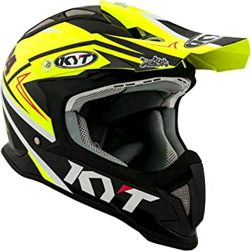 KYT casco Moto Cross off-road Strike Eagle, Simpson Replica Yellow, talla 2