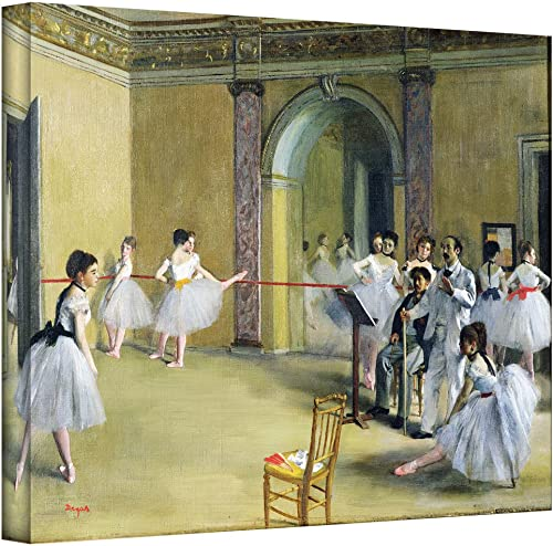 ArtWall The Dance Foyer at The Opera on The Rue Le Peletier Gallery-Wrapped Canvas Artwork by Edgar Degas, 24 by 32-Inch