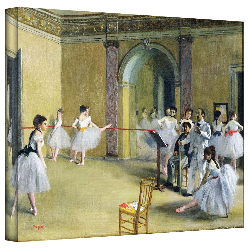 ArtWall 'The Dance Foyer at The Opera on The Rue Le Peletier' Gallery-Wrapped Canvas Artwork by Edgar Degas, 24 by 32-Inch