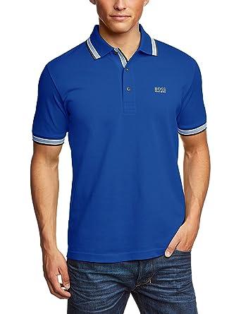 faf7cacf Hugo Boss - Men's Paddy Pro Polo Shirt. Short Sleeve. Modern Fit (Royal Blue,  M): Amazon.co.uk: Clothing