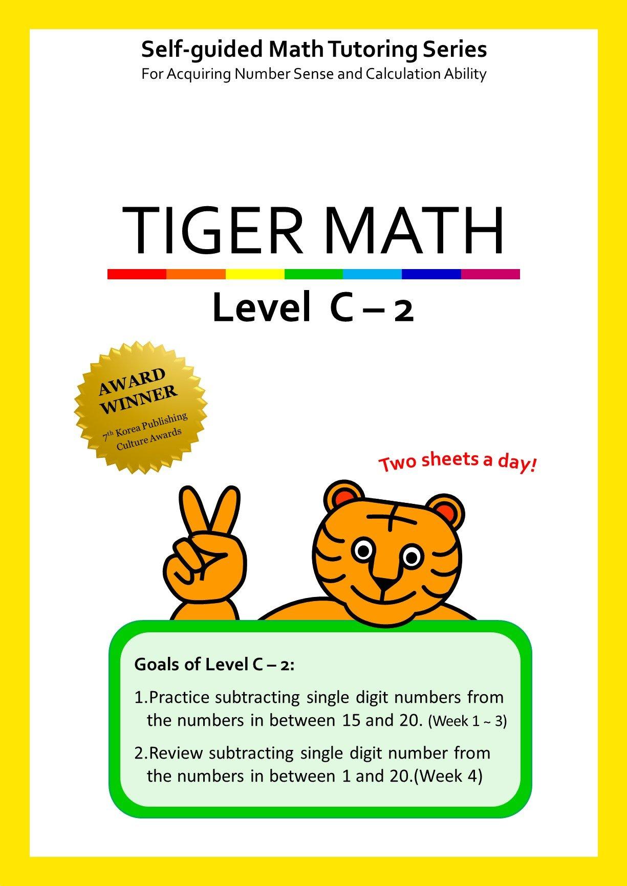 Tiger Math Level C - 2 for Grade 2 (Self-guided Math Tutoring Series - Elementary Math Workbook)