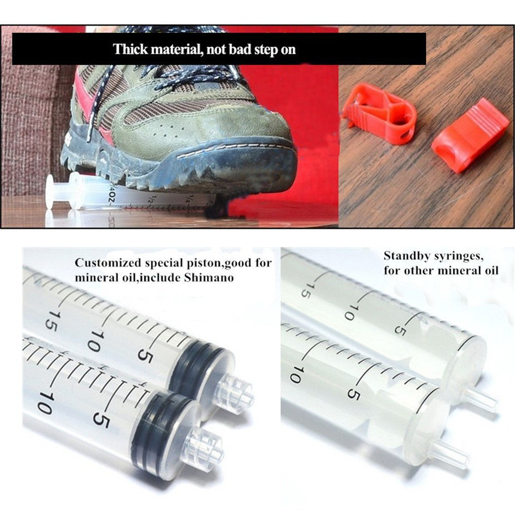 West Biking MTB Bike Cycling Hydraulic Disc Brake DOT Bleed Kit for Shimano/TEKTRO/Magura by West Biking (Image #4)