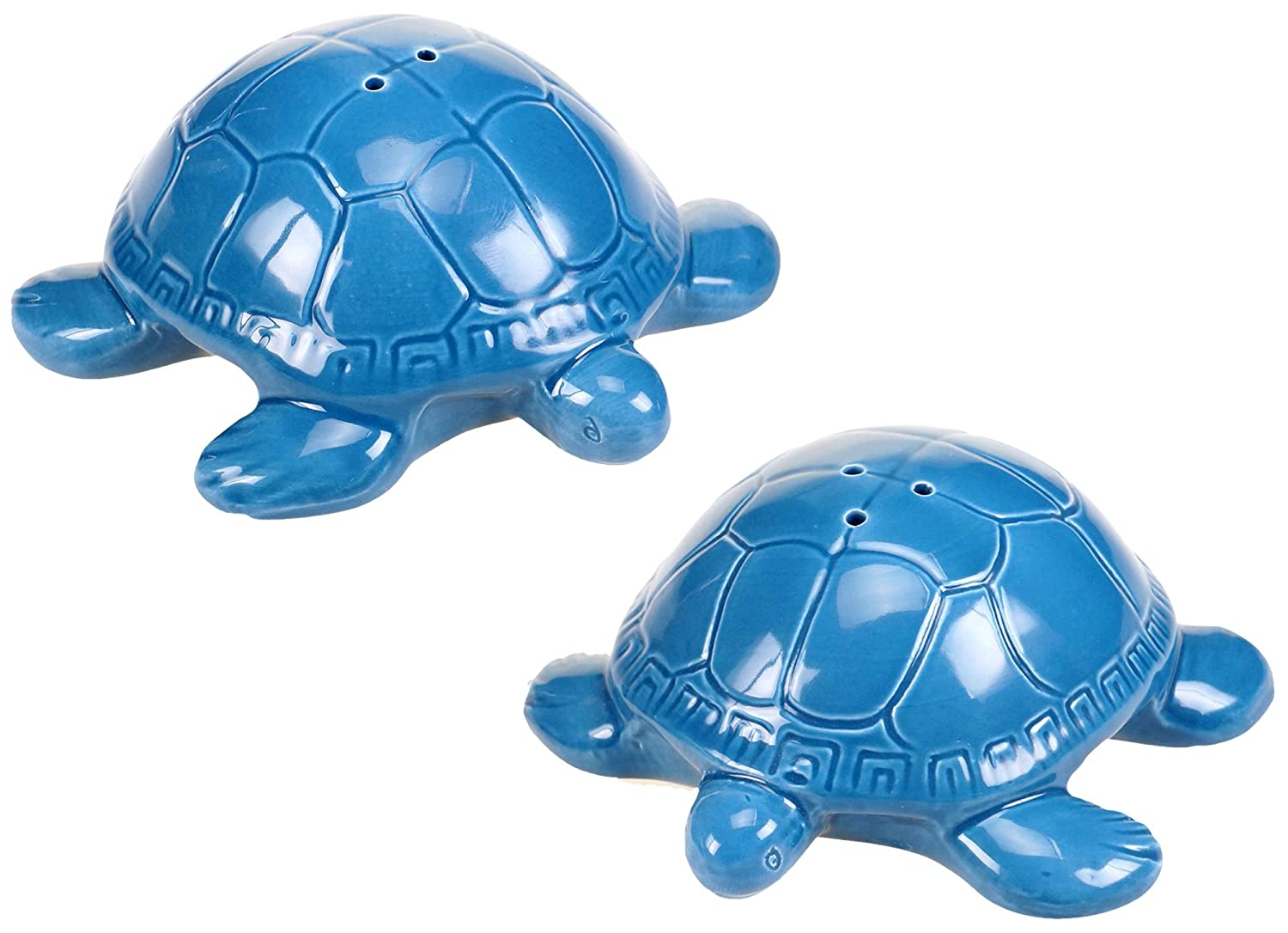 Certified International Sea Life 3-D Turtle Salt /& Pepper Set 1.75