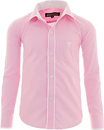 GILLSONZ - Camisa - Clásico - para niño Rosa 110 cm: Amazon.es: Ropa y accesorios