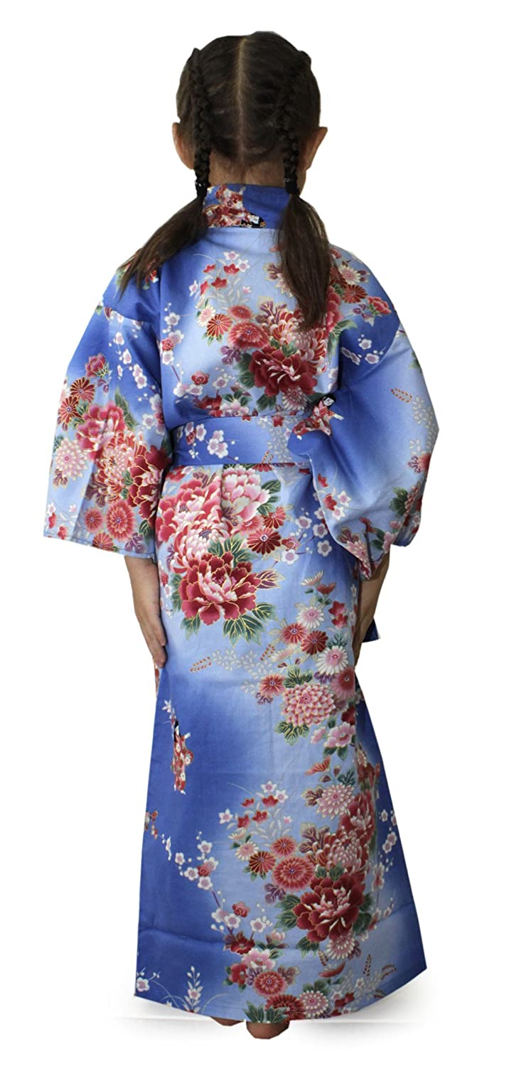 Amazon.com  Girl s Cotton Yukata Robe Unlined Japanese Summer Kimono   Clothing 27a2de5b5