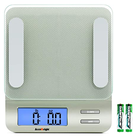 5b195a235f6 Accuweight 207 Digital Kitchen Multifunction Food Scale for Cooking with  Large Back-lit LCD Display