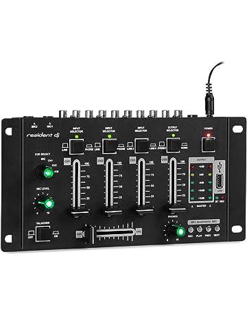 Resident DJ Amnesia Mezclador de 4 Canales • Mesa de Mezclas • Bluetooth • USB MP3