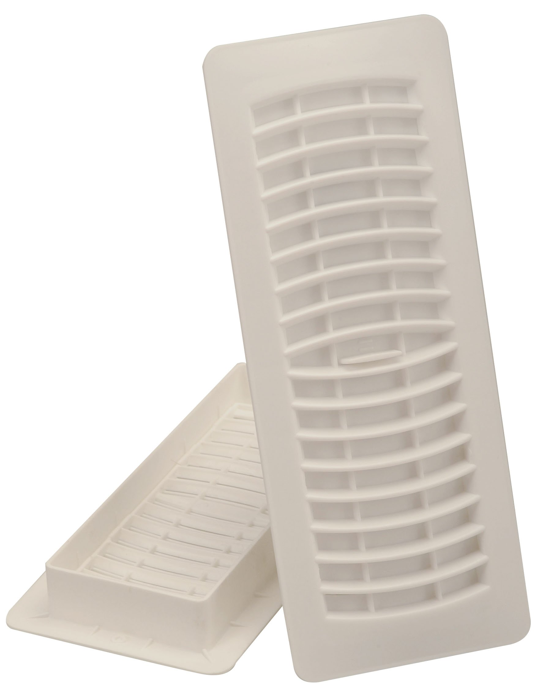 Imperial 4'' x 12'' Louvered Floor Register, Bone White, RG1463 by Imperial