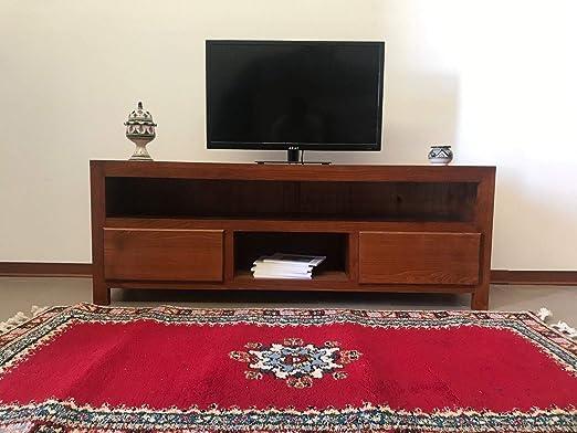 Muebles étnicos Porta TV de Madera Maciza Minimal Salón Decoración 0910190905: Amazon.es: Hogar