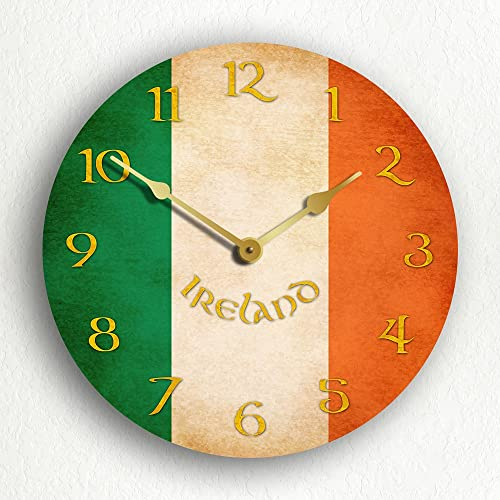 Classical Creations Irish Flag Ireland 12 Wall Clock