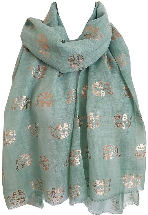 Glamlondon - Bufanda Para Mujer, Diseño De Elefant...