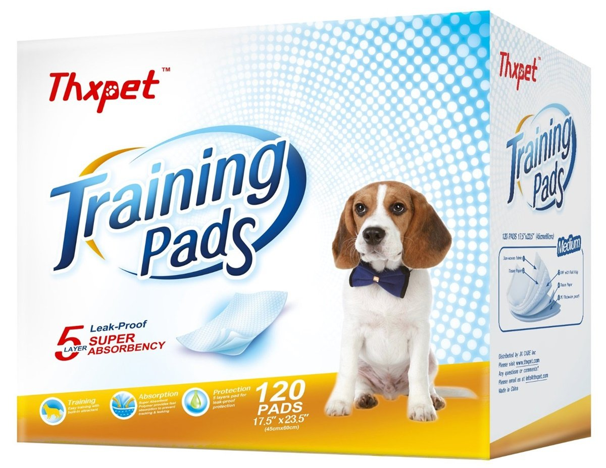 "Thxpet Pet Training Pads (120 Pack), 17.5"" x 23.5"""
