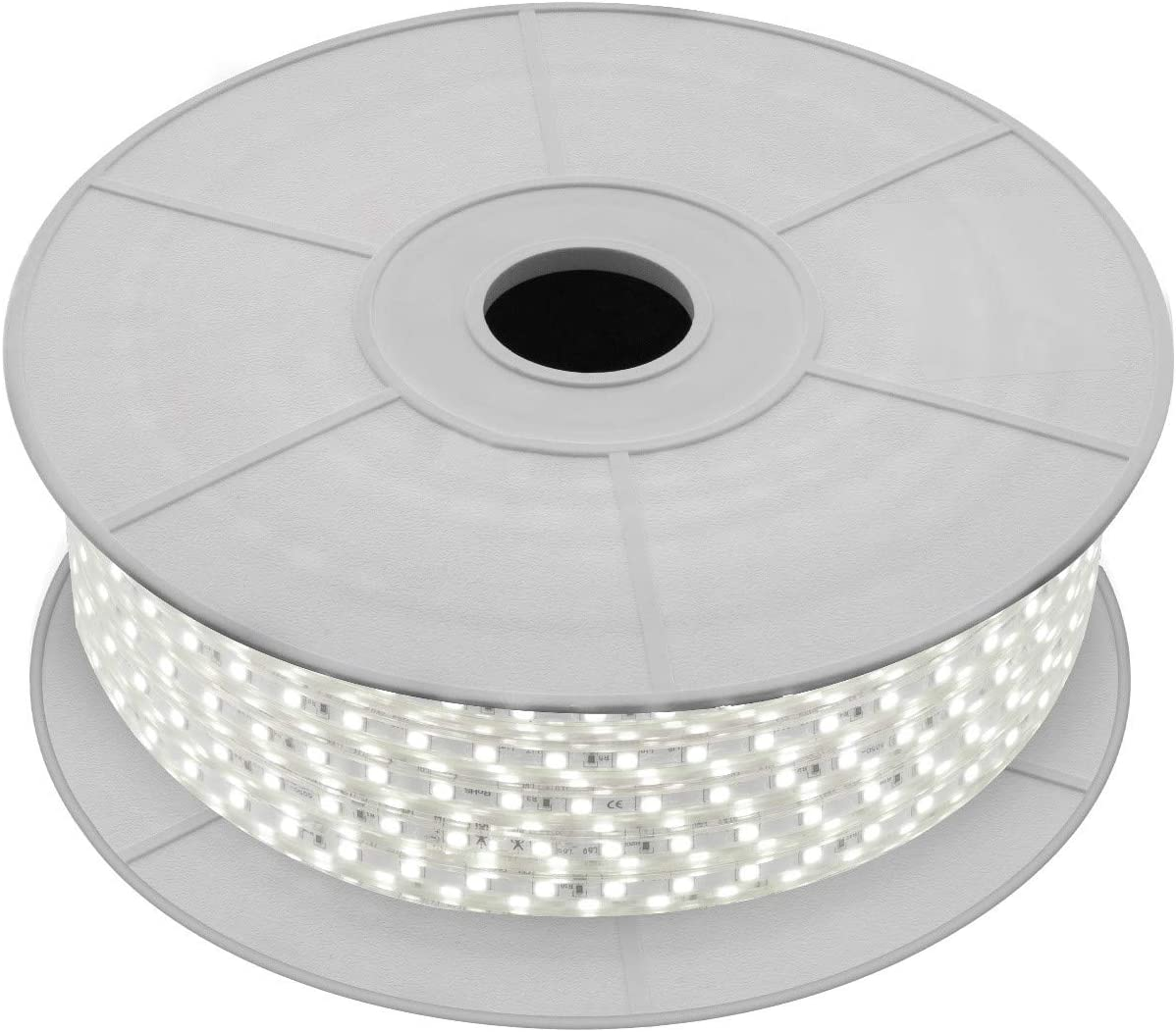 LEDKIA LIGHTING Bobina de Tira LED Regulable 220V AC 60 LED/m 50m Blanco Neutro IP65 Corte a los 100cm