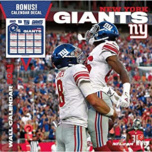 Turner Licensing, 2021 NFL New York Giants Bonus Wall Calendar