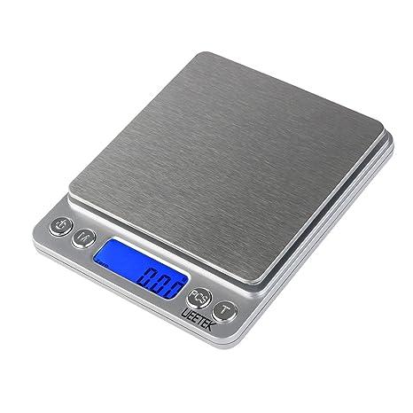 UEETEK 0.01g-500g Balanza de Precision Bascula Digital Para Alimento ...