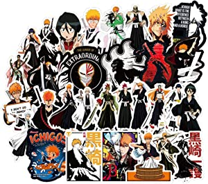 50Pcs Cartoon Anime Bleach Stickers for Water Bottle Cup Laptop Guitar Car Motorcycle Bike Skateboard Luggage Box Vinyl Waterproof Graffiti Patches JKT
