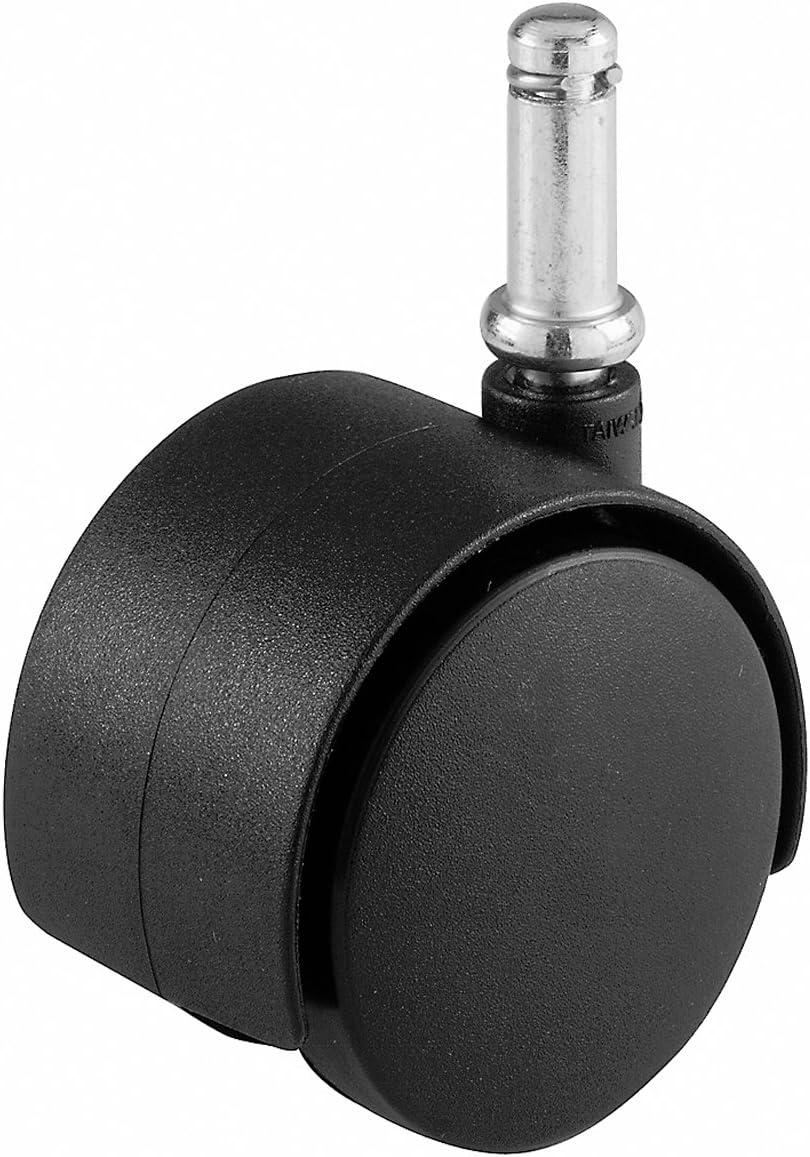 Shepherd Hardware 9674 2-Inch Office Chair Caster, Twin Wheel, 7/16-Inch Stem Diameter, 75-lb Load Capacity
