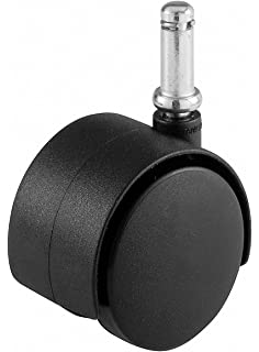 Shepherd Hardware 9674 2 Inch Office Chair Caster, Twin Wheel, 3/8