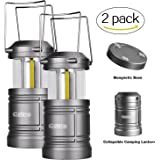 Camping Lantern Battery Powered - LED Lantern with Magnetic Base, 30 LEDs COB Technology Water Resistant Collapsible 500lm, camping gear equipment