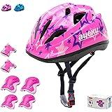 Kids Bike Helmet Skateboard Helmet 5-14 Years Sports Protective Gear Set Adjustable Youth Helmet Knee Elbow Pads Wrist Guards