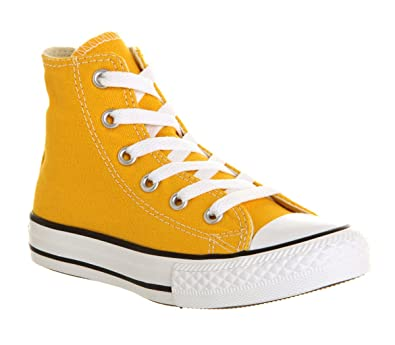 12dc9827d66e Converse All Star Hi Mid Sizes Wild Honey Yellow - 1 youth UK  Amazon.co.uk   Shoes   Bags