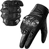 MADBIKE Motorcycle Gloves for Men Women Carbon Fiber Hard Knuckle Touchscreen Fit Summer Dirt Mountain Bike Motocross
