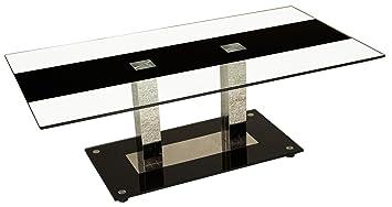 Tischdesign24 Detroit Couchtisch Mit Edelstahlsäulen Tischplatte