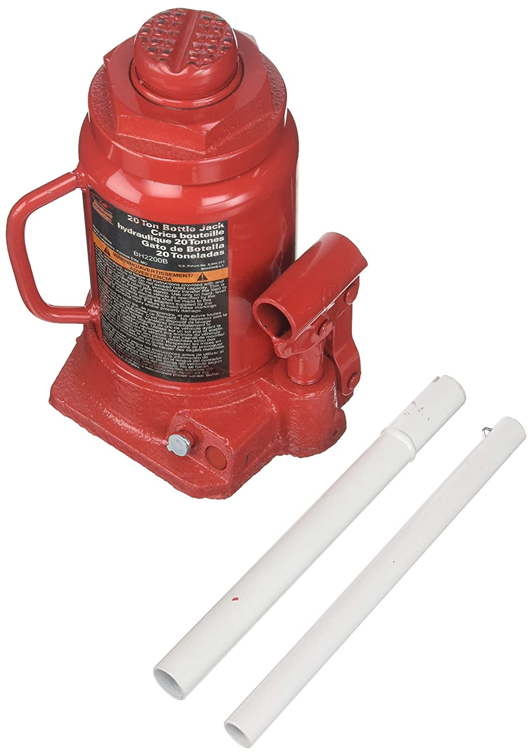Blackhawk BH2200B Bottle Jack (20 Ton Hydraulic Side Pump)