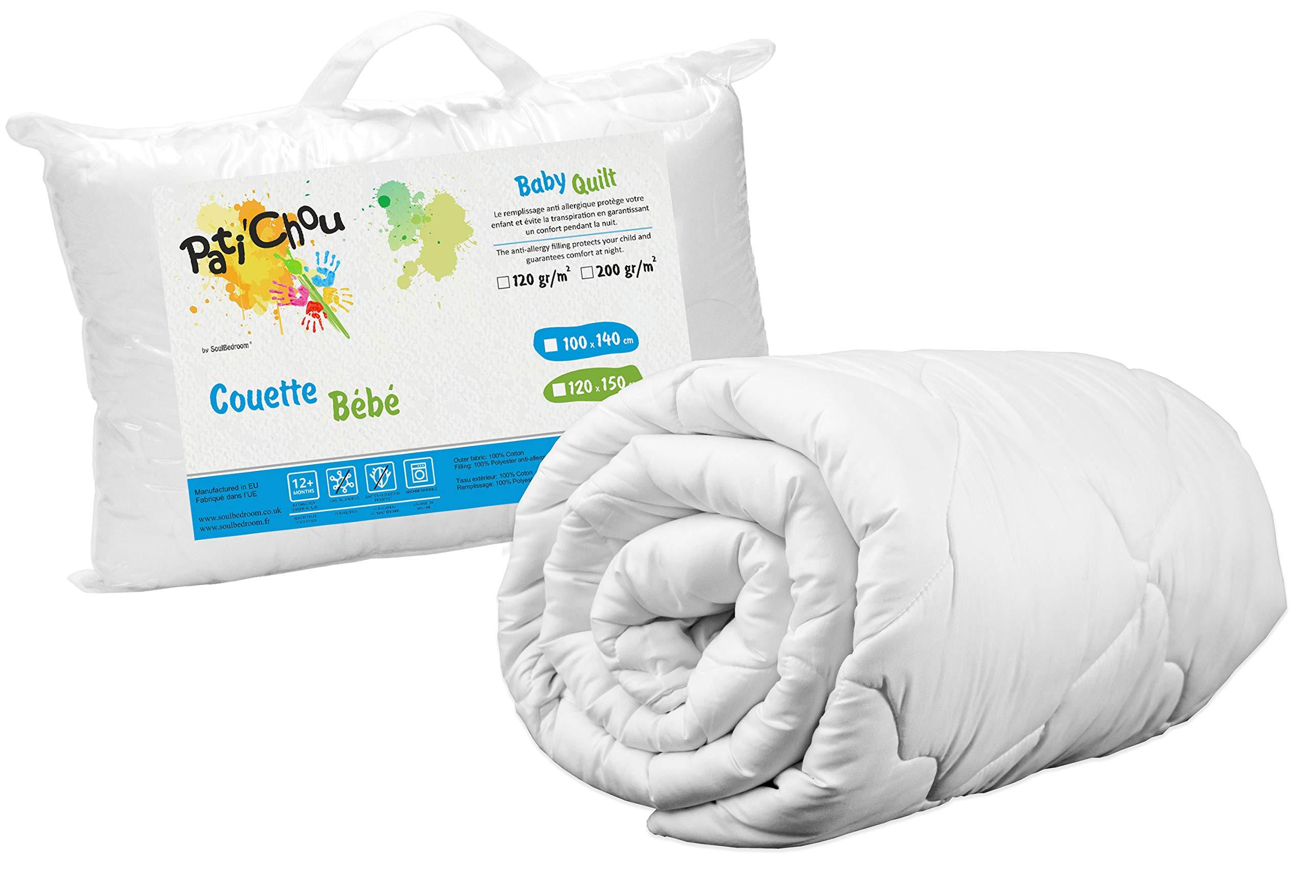 Pati'Chou 39''x 55'' Kids Baby Warm Quilt Duvet (100% Cotton Cover, tog 4) 100x140 cm by Pati'Chou