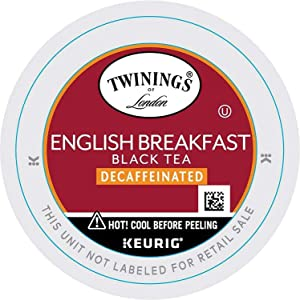 Twinings Naturally Decaffeinated English Breakfast Tea-Keuring K-Cup 12count