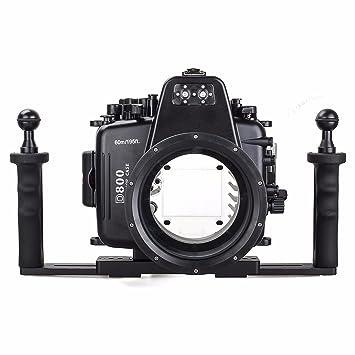 EACHSHOT 60 m/195ft Impermeable para Nikon D800 Cámara bajo ...