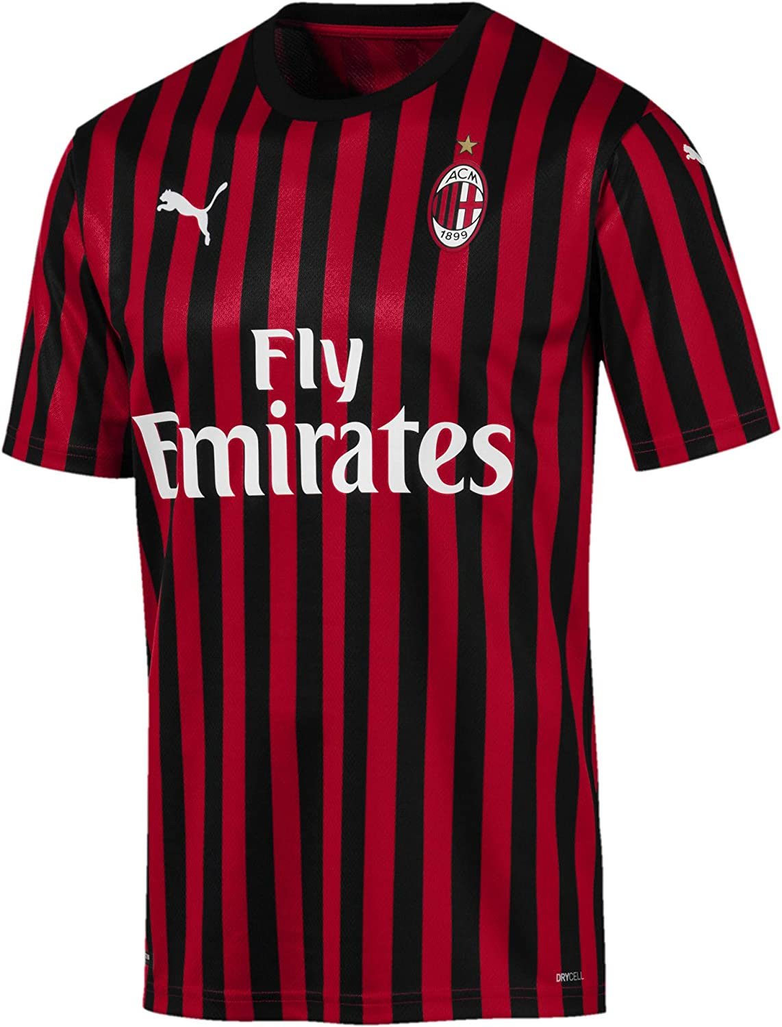Amazon Com Puma Ac Milan Home Authentic Jersey 2019 2020 Sports Outdoors