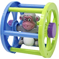 RATNA'S Rolling Monkey for Infants. Roll It Ahead and It Will Come Back to You
