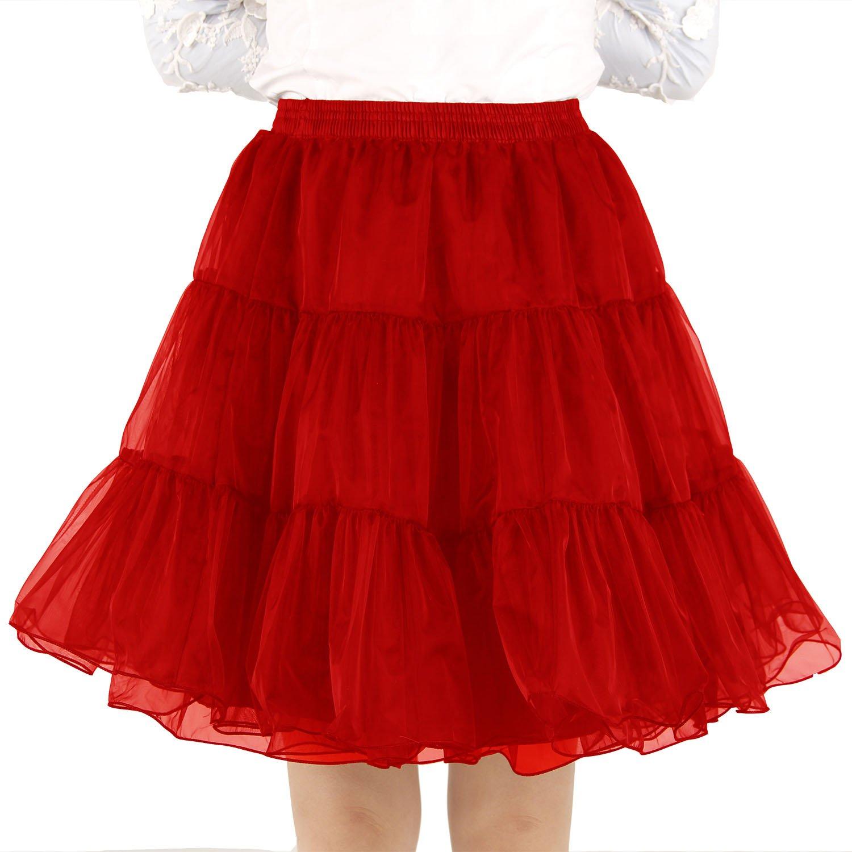 Shimaly Womens Short Length Petticoat Above Knee Underskirt Half Slip Crinoline