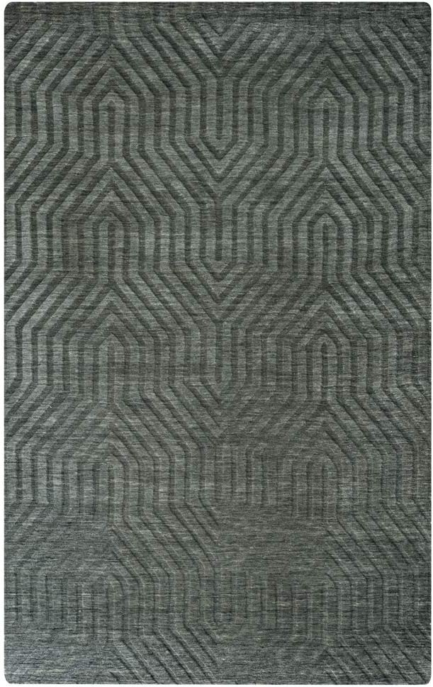 Rizzy Home Technique Collection Wool Area Rug, 3' x 5', Gray/Charcoal Solid
